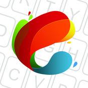 彩色键盘主题为iPhone | Custom Keys 美丽的笑容 1.1.3