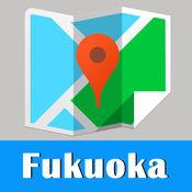 Fukuoka Map offline,BeetleTrip Hakata subway metro pas