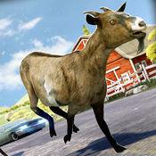 疯狂的 羊 . 野生 山羊 模拟器 竞赛 游戏 为孩子 免费 1.0