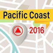 Pacific Coast 离线地图导航和指南 1