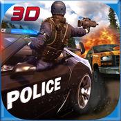 爬山警察VS犯罪分子汽车射击3D游戏 1