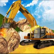 小山卡车挖掘机起重机:建筑模拟器