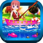 可爱的糖果钓鱼 FREE - 有趣的小女孩武士斜线和粉碎挑战 1