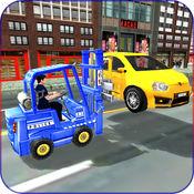 市 警察 汽车 升降机 -  交通 控制 赶 小时 1