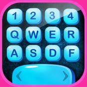 键盘和漂亮的字体 - 新的表情符号和文本主题为 iPhone 1.1