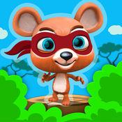 忍者跳跃熊 - 有趣的武士从丛林中逃脱 - 免费 跳跃和运行