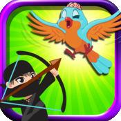 愤怒的弓忍者大师 FREE - 僵尸鸟攻击的防御 1