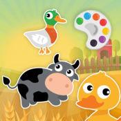 可愛的農場與動物著色頁 1