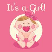这是一个女孩!婴儿欢迎聚会邀请 1