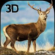 野生梅花鹿复仇模拟器3D - 控制疯狂雄鹿和粉碎动物 1