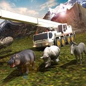 森林野生动物3D运输的卡车司机 1