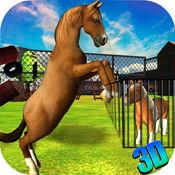 野马之怒3D  - 真正的疯狂动物狂暴游戏以骑和摧毁的城市 1