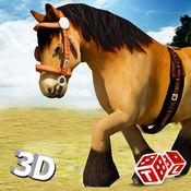 野马运行模拟器3D - 皇家赛马骑马和跳跃模拟应用在山 1.1