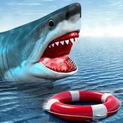 野生饥饿鲨鱼狩...