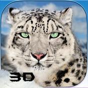 野生雪豹3D模拟...