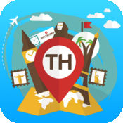 泰国 离线旅游指南和地图。城市观光 曼谷,普吉岛,芭东,清