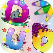ABC字母表儿童学英文动物画画游戏(3到6岁宝宝英语识字早教