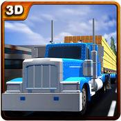木材运输卡车 - 货运挂车行驶 1