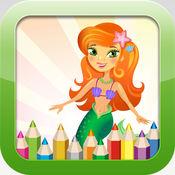 美人鱼着色书 - 教育着色游戏免费!对于孩子和幼儿 1