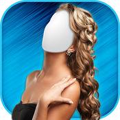 女性发型 照片蒙...