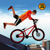 屋顶自行车特技骑手 - 自行车模拟器 1
