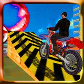 屋顶自行车特技模拟器和骑手 1