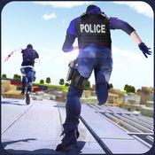 屋顶刑事运行,以逃避市警察蔡斯 - 大佬拍摄和特技游戏 1