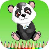 熊猫着色书:学习颜色的熊猫,考拉和北极熊,免费儿童游戏 1