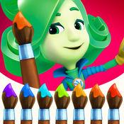Fixies 手指画线! 婴儿早教育游戏畫畫与颜色! 兒童游戏教