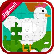 农场动物魔术拼图游戏记忆 1