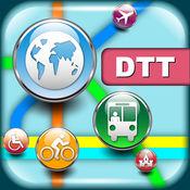 底特律(美国)地图 - 下载智能公交地图和旅游指南