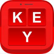 红色键盘皮肤变换器 - 酷字体和表情符号 1