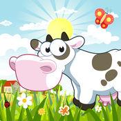 帮助幼儿认识有趣的农场动物的卡通农场游戏