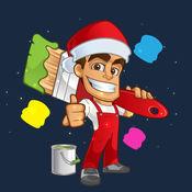 快乐圣诞着色为幼儿 - 假日颜色和油漆的书 1