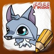 如何画动物果酱免费