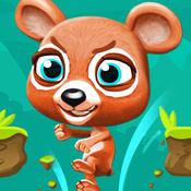 愤怒的熊 - 熊 针对 对兔子跑步和跳跃游戏 1