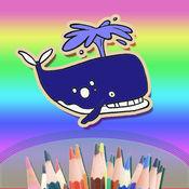 宝宝爱画画—海洋动物涂色秀秀—画板涂色绘本二合一
