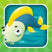 对于2-5岁的幼儿对游戏钓鱼:游戏,拼图和谜语的幼儿园,学前班或幼儿园。 学习 与海,水,鱼,渔民和渔杆.