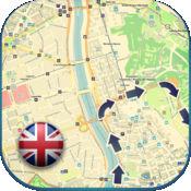 英格兰(英国)离线路线图。大不列颠免费指南 (England offline map)