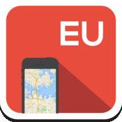 欧洲 离线地图,指南,天气,酒店。免费导航。