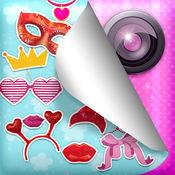 可爱的品牌照片贴纸为女孩