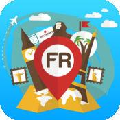 法国 离线旅游指南和地图。城市观光 巴黎,凯恩,里昂,史特