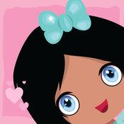 亏得女孩爱粉红色拼图- 声音游戏是为幼儿园和学龄前儿童而设的