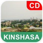 金沙萨,刚果 离线地图 - PLACE STARS