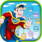马戏嘉年华英雄救援游戏 - 拨打911并重建游乐园超级英雄