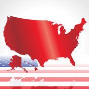 猜测美国50个州的国旗和舆地图