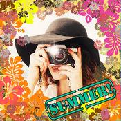借鉴图片编辑器亲 - 写出漂亮的报价和帧照片夏季相框 1