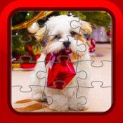 圣诞小狗狗拼图幼儿