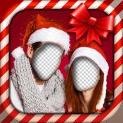 圣诞装扮游戏的夫妇 1