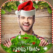圣诞照片蒙太奇 – 脸变身圣诞老人服装编辑器和假期贴纸